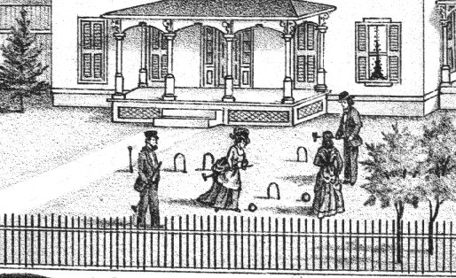 Croquet players at Perry Guile's place